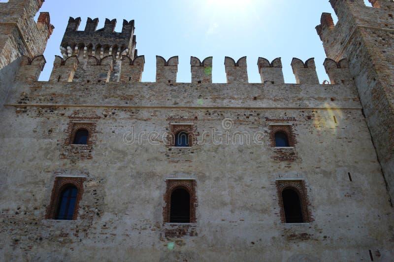 Scalidero Castle on Lake Garda. Old Scalidero Castle on Lake Garda stock images