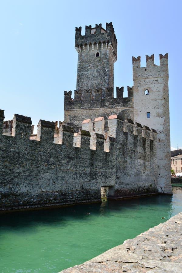 Scalidero Castle on Lake Garda. Old Scalidero Castle on Lake Garda royalty free stock image