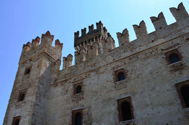 Scalidero Castle on Lake Garda. Old Scalidero Castle on Lake Garda royalty free stock photo