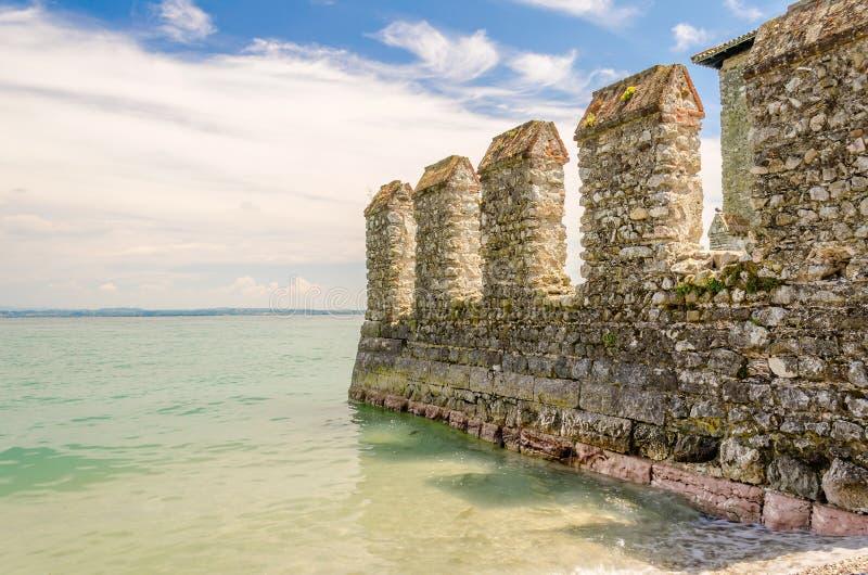 Scaliger城堡, Sirmione,意大利 免版税库存图片