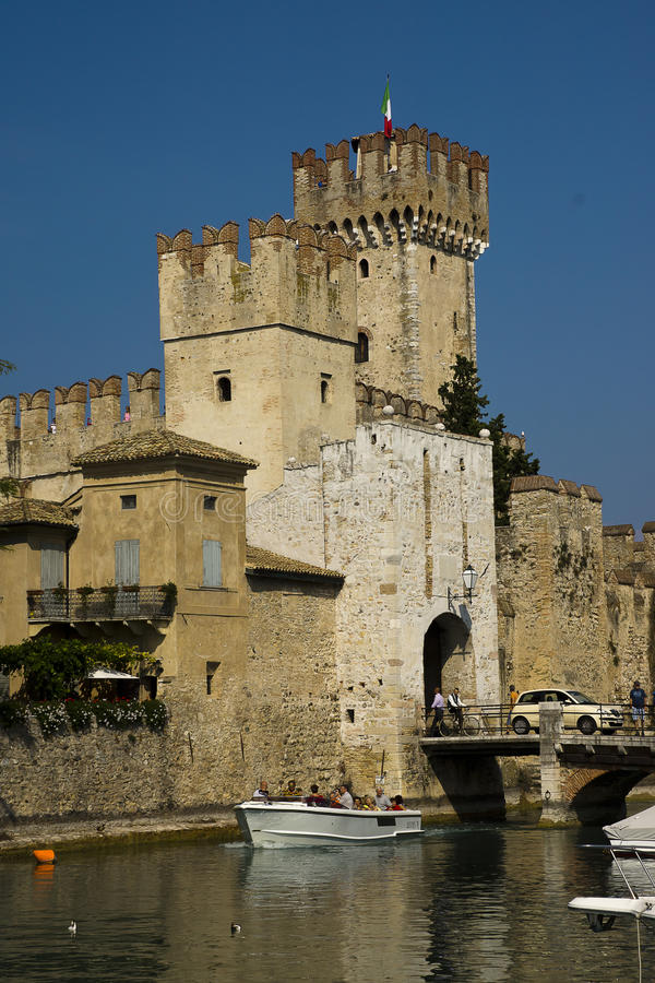 Scaliger Castle, Sirmione, Italy stock photography