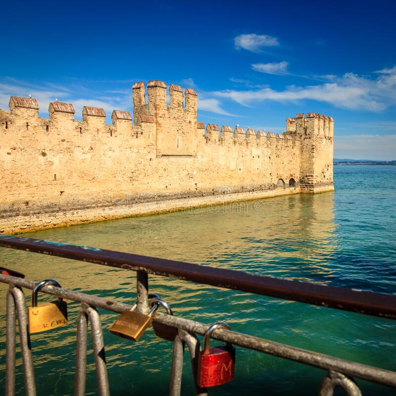 Scaligero Castle in Italy stock photo