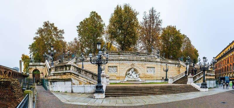 Scalinata Del Pincio a Bologna, Italia fotografie stock libere da diritti