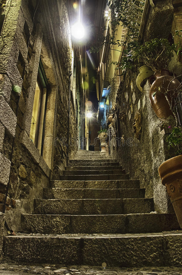 Scalinata Taormina zdjęcia royalty free