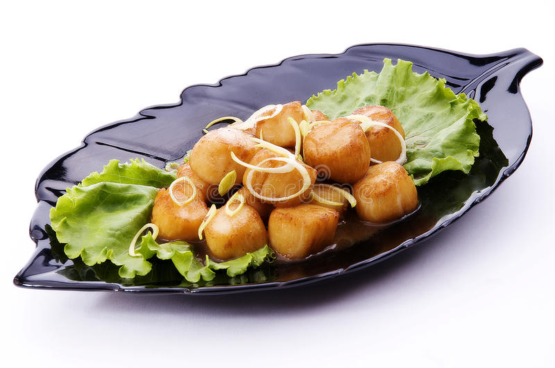 Scallop de mar Roasted fotografia de stock