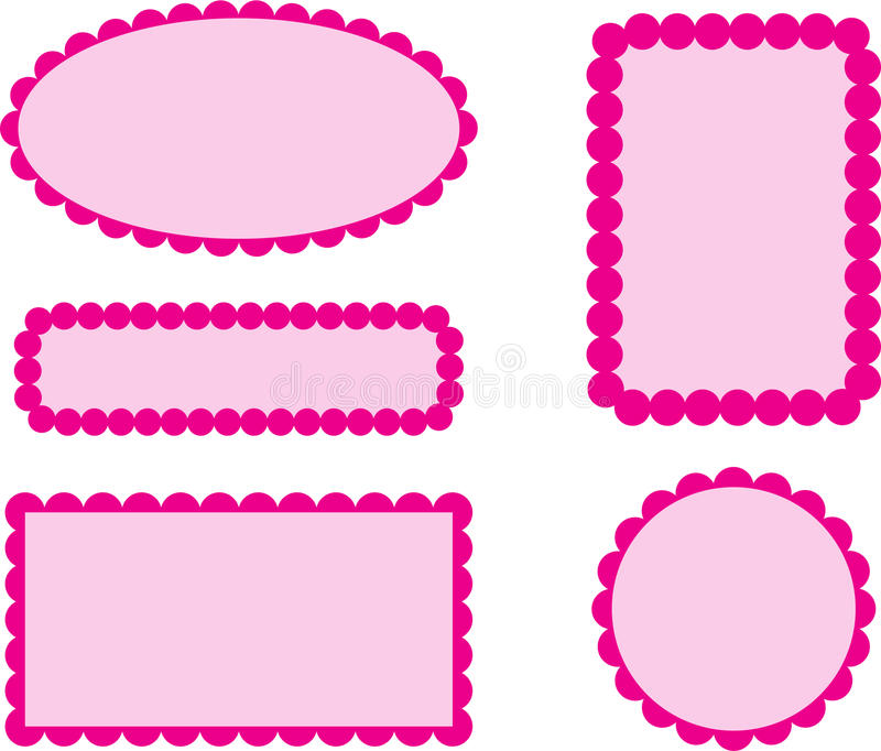 Scallop Edge Frames Pink stock vector. Illustration of scallop ...