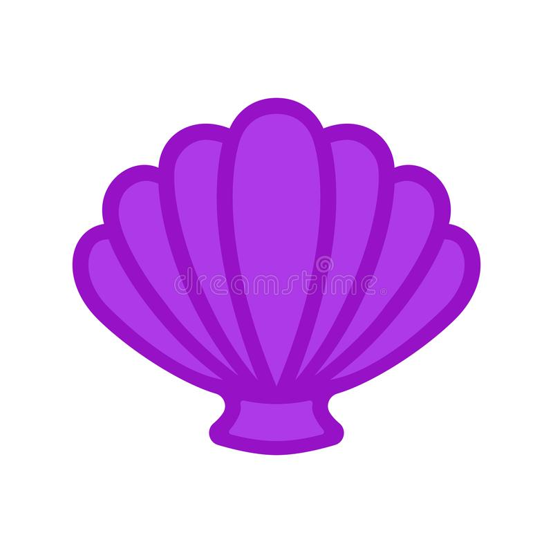 Free Scallop Sea Shell. Clam. Conch. Seashell - Flat Vector Stock Image - 115597621