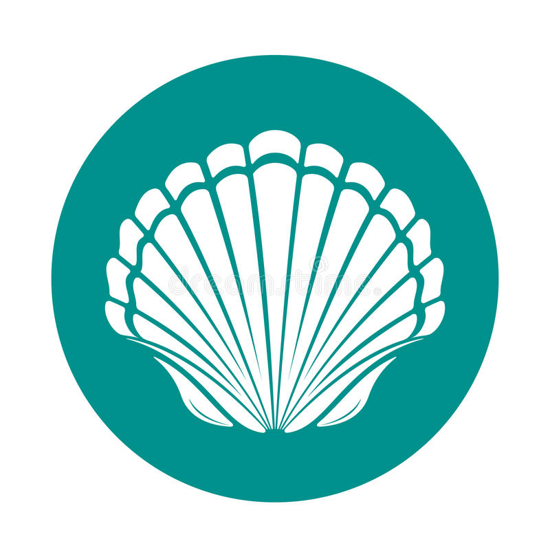 Scallop sea shell royalty free illustration