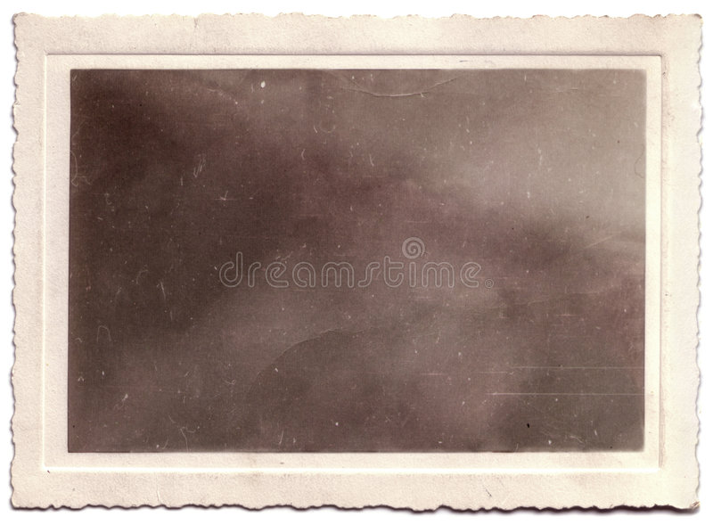 Scalloped Vintage Photo Portrait Blanked royalty free stock photo