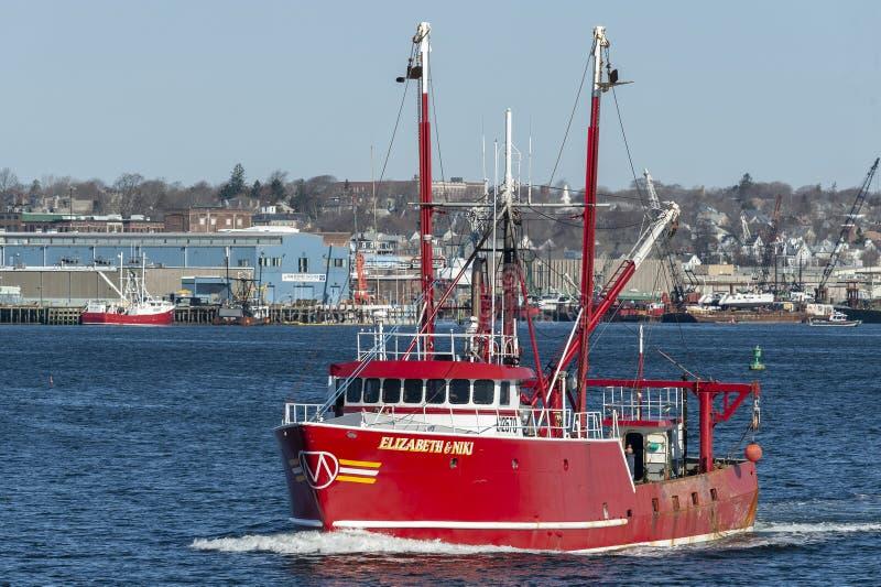 Scalloper Elizabeth & πηγαίνοντας αλιεία της Niki στοκ εικόνες με δικαίωμα ελεύθερης χρήσης