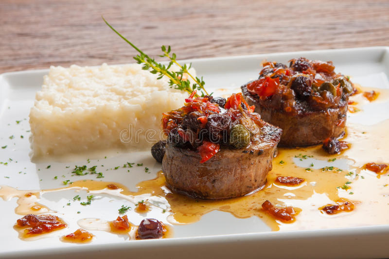 Scalopi Fillet Mignon stock photography