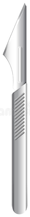 A scalpel. Illustration showing a scalpel on a white background royalty free illustration