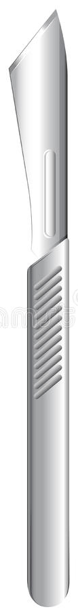 A scalpel. Illustration of a scalpel on a white background royalty free illustration