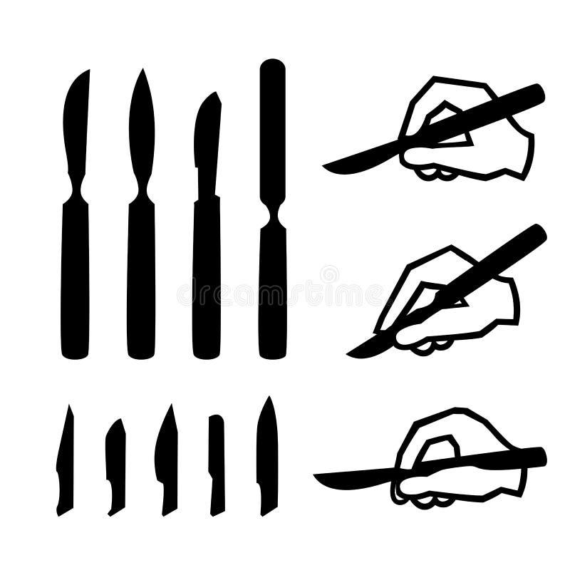 scalpels fotografia stock