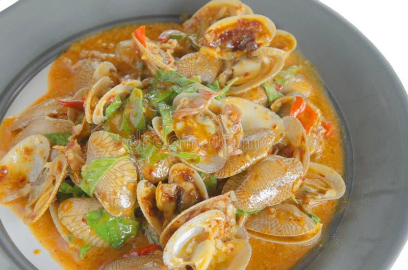 Scalpore Fried Clams con curry immagine stock libera da diritti