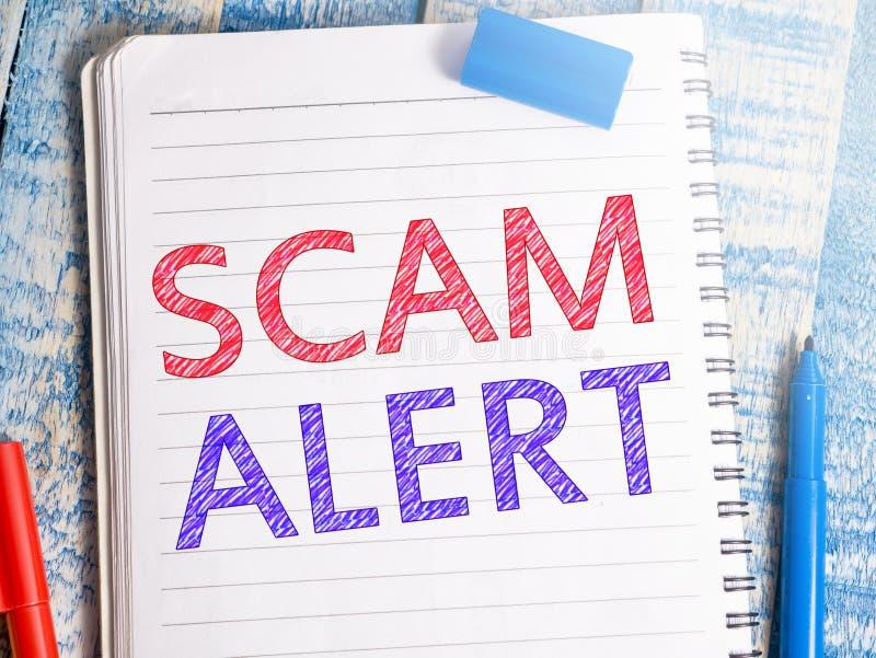 Scam-Alarm, de Frauduleuze citaten van Internet royalty-vrije stock foto's