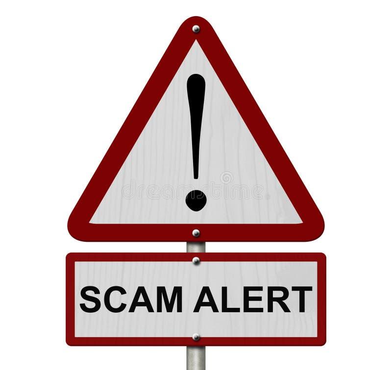Scam-Alarm-Vorsicht-Zeichen lizenzfreies stockbild
