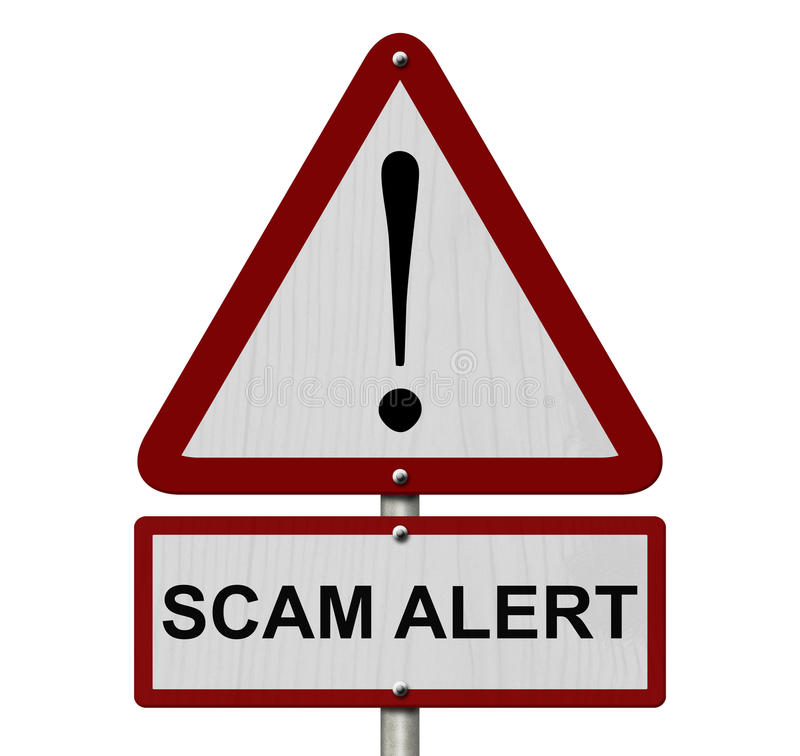 Free Scam Alert Caution Sign Royalty Free Stock Image - 45080276