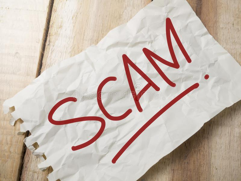 Scam Alert, Internet Fraudulent Words Quotes Concept royalty free stock photography