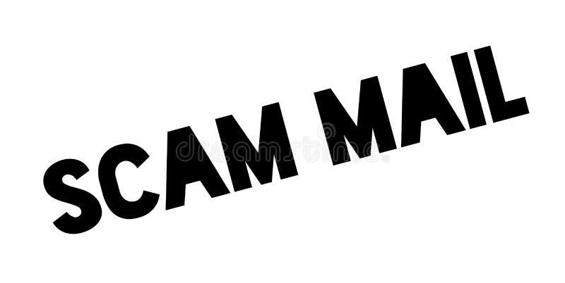 Scam-Poststempel lizenzfreie abbildung