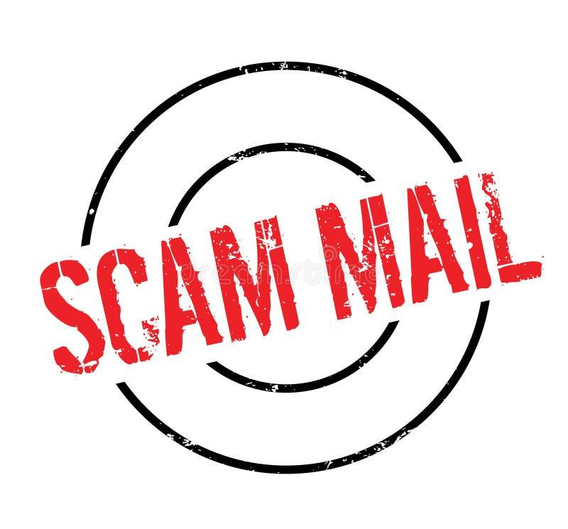 Scam-Poststempel stock abbildung
