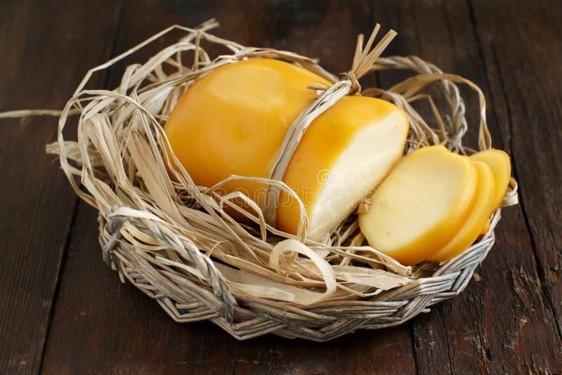 Scamorza, formaggio affumicato italiano tipico immagine stock libera da diritti