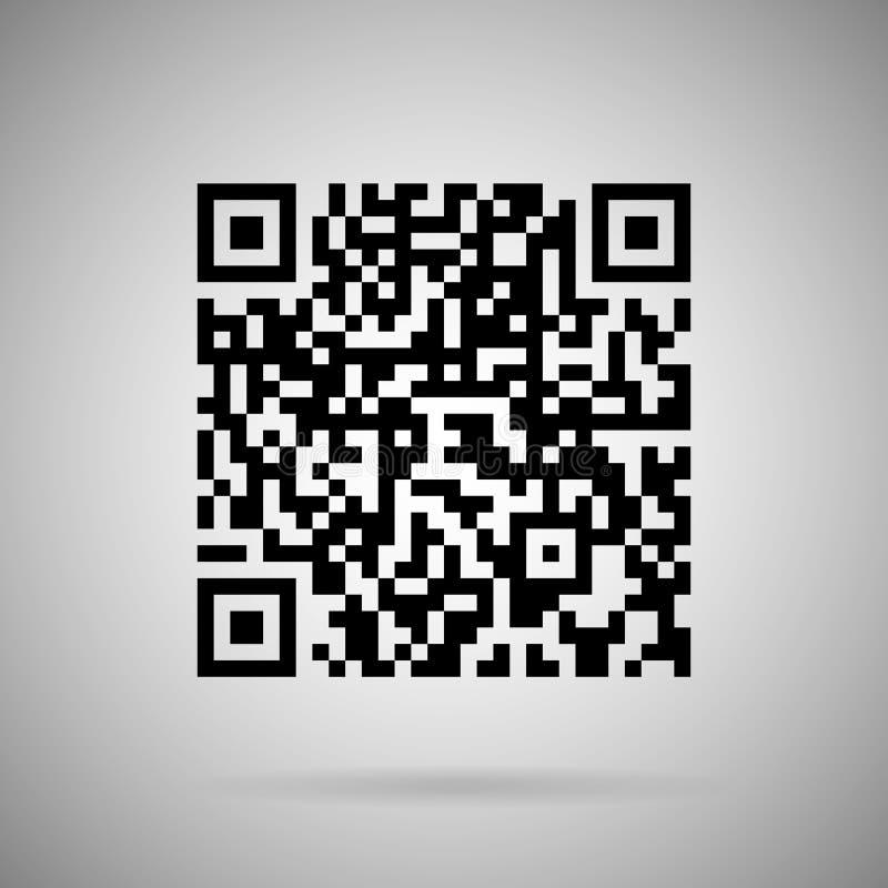 Scan code vector. Realistic icon design element stock illustration