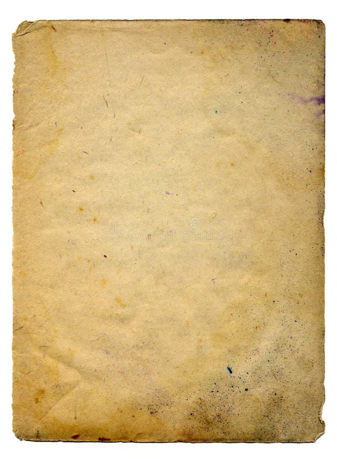 Scan des alten Papiers stockfotografie