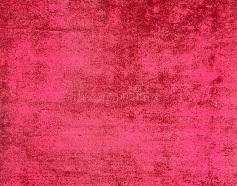 Scan des dunkelroten purpurroten abgewischten Samts zerrieb Beschaffenheit lizenzfreie stockbilder