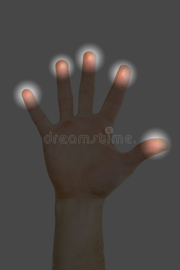 scan odcisków palców zdjęcie royalty free