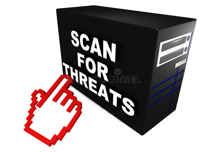 Scan for threats royalty free illustration