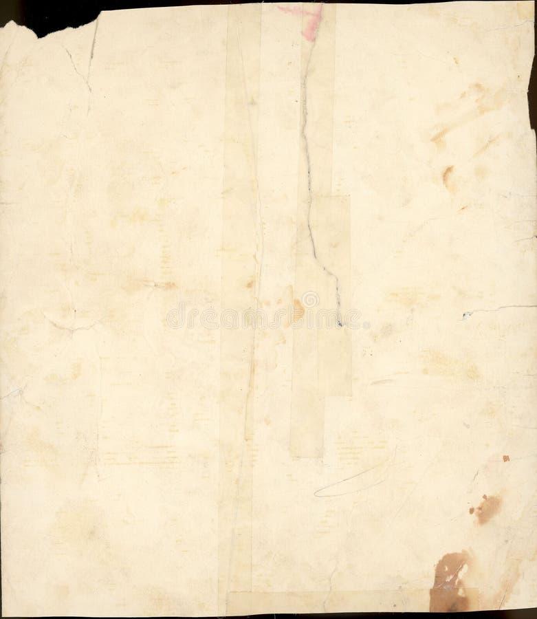 Scan von 100 Einjahres befleckten Papier lizenzfreies stockfoto