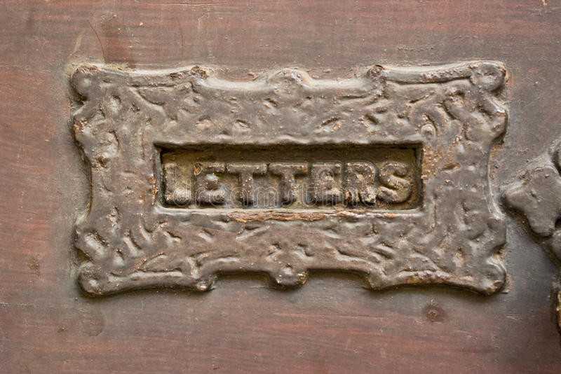 Scanalatura di Letterbox fotografia stock libera da diritti