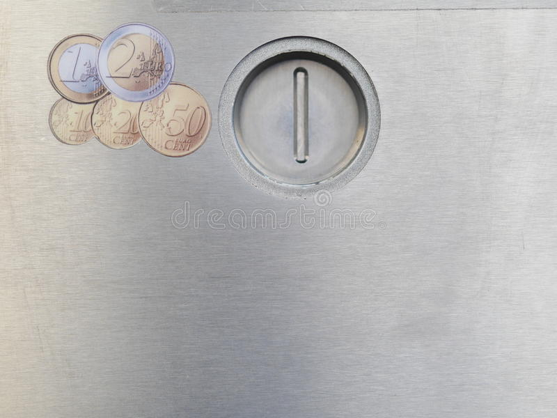 Scanalatura di moneta fotografia stock libera da diritti