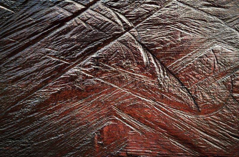 Scanalatura nel vecchio marrone dipinto di legno fotografia stock libera da diritti