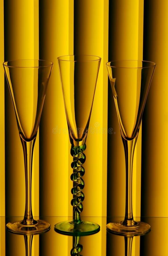 Scanalature di Champagne immagine stock libera da diritti