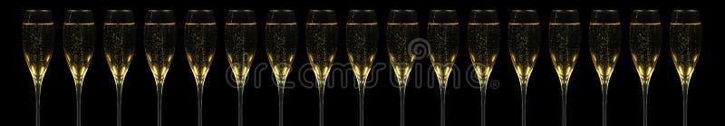 Scanalature di Champagner fotografia stock libera da diritti