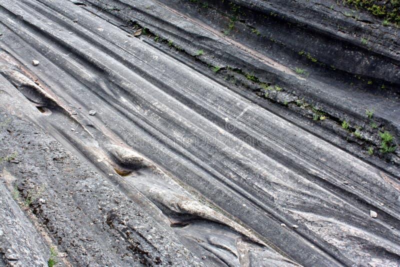 Scanalature glaciali fotografie stock