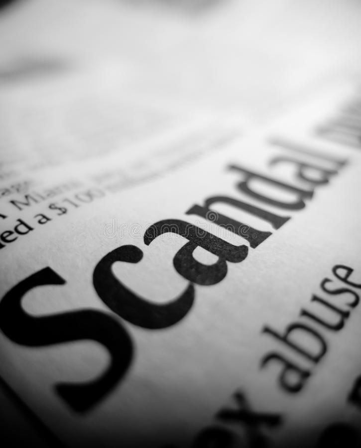 Scandal Headline Stock Photos
