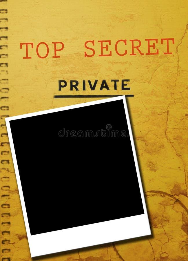 scandale privé de photo révélatrice illustration de vecteur