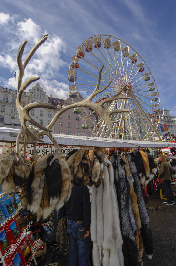 Scandanavian products in the local market royalty free stock photo