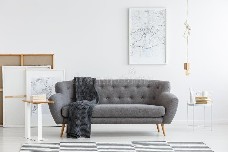 Scandi living room interior royalty free stock photography