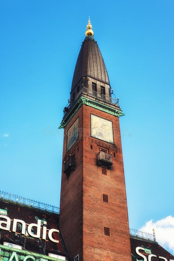 Scandic pałac hotelu wierza, Kopenhaga, Dani zdjęcia royalty free