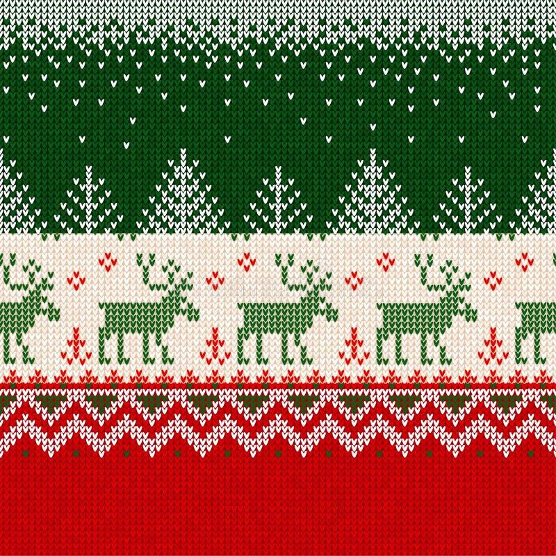 Scandinav sans couture de cadre de frontière de modèle de nouvelle année de Joyeux Noël illustration stock