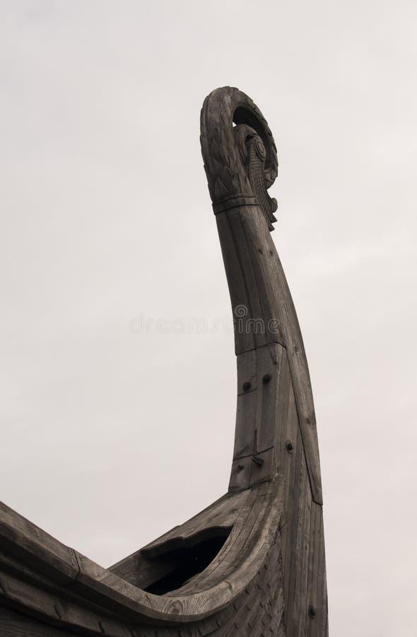 Scandinave en bois Drakkar d'élément Viking Ship photographie stock libre de droits