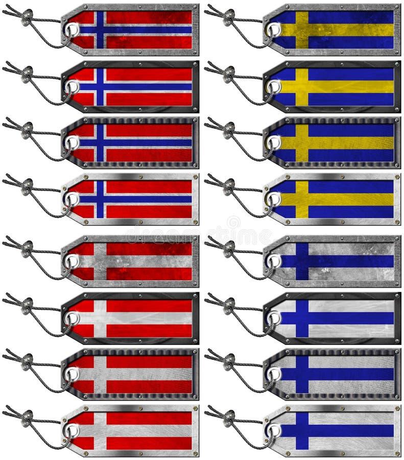 Download Scandinavia Flags Set Of Grunge Metal Tags Stock Illustration - Image: 28786036