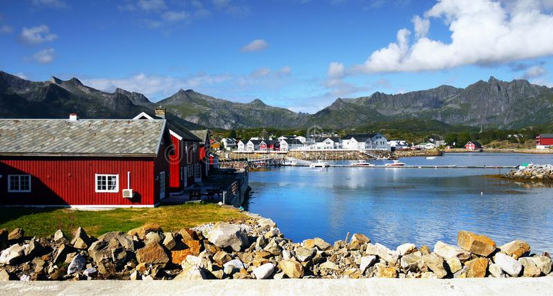 Scandinavia, Norwegia, Północny Niewygładzony krajobraz, Lofoten wyspy obrazy royalty free