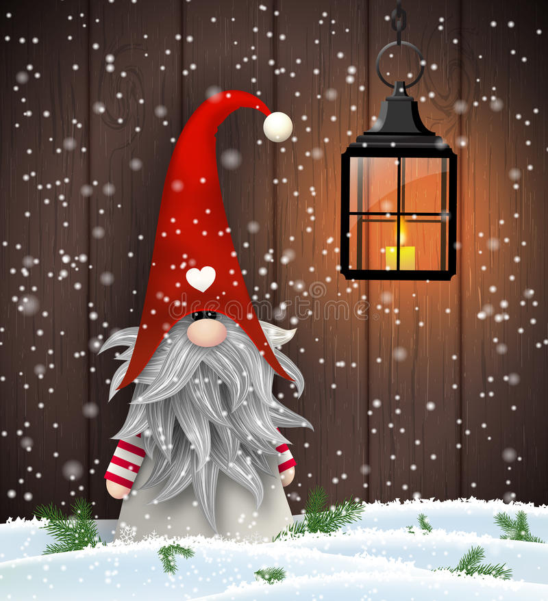 Free Scandinavian Christmas Traditional Gnome, Tomte, Illustration Stock Image - 76980481