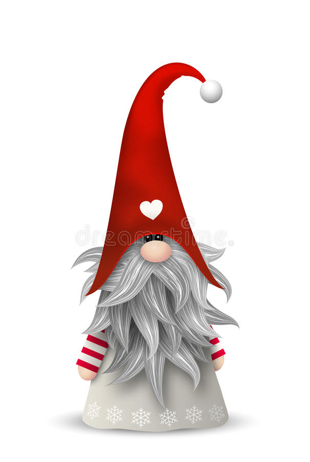 Gnome Clip Art: Scandinavian Christmas Traditional Gnome, Tomte