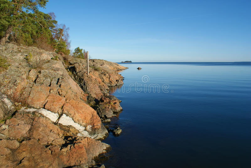 Scandinavian Coast Stock Images